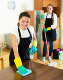 Workers of cleaning company Stock Image