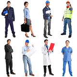 Workers collection royalty free stock photography