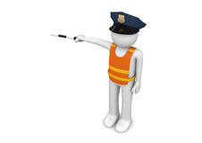 Workers collection - Traffic controller. 3d characters isolated on white background series Royalty Free Stock Images