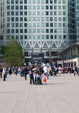 Workers and commuters in Canary Wharf Royalty Free Stock Images