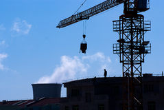 Workers in construction site Stock Photography