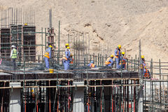 Workers at a construction site Stock Images