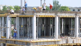 Workers construction site Royalty Free Stock Photos