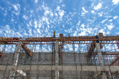 Workers at the construction site Royalty Free Stock Photos