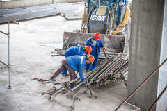 Workers at the construction site Royalty Free Stock Images