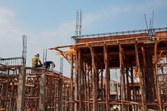 Workers at construction site Royalty Free Stock Images