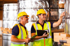 Workers counting stock Stock Image