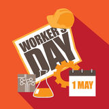 Workers Day hard hat design Royalty Free Stock Photo