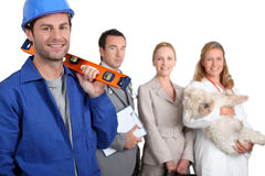 Workers in different trades Royalty Free Stock Photo