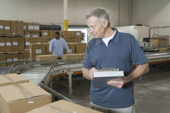 Workers In Distribution Warehouse. Workers working in distribution warehouse royalty free stock image