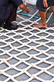Workers doing netting Stock Image