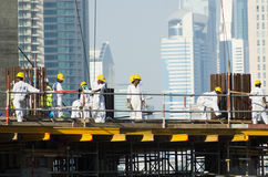 Workers,Dubai Royalty Free Stock Image