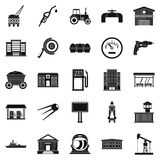 Workers in the factory icons set, simple style. Workers in the factory icons set. Simple set of 25 workers in the factory vector icons for web isolated on white Royalty Free Stock Photography