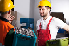 Workers in factory Stock Photos