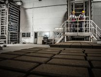 Workers on a factory Royalty Free Stock Photography