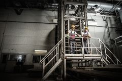 Workers on a factory Royalty Free Stock Photo