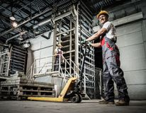 Workers on a factory Stock Photography