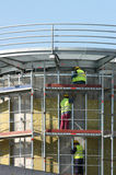 Workers on falsework Royalty Free Stock Image