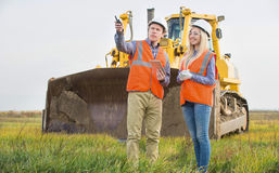 Workers in the field Royalty Free Stock Images