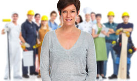 Workers group. royalty free stock images