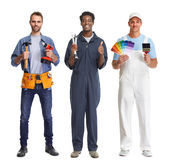 Workers group. royalty free stock photography