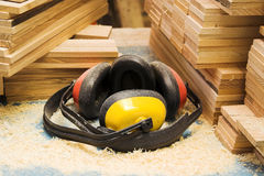 Workers  headphones Royalty Free Stock Photos