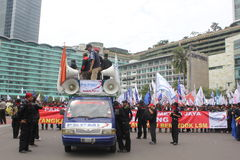 Workers Held Rally for Better Welfare Stock Images