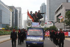 Workers Held Rally for Better Welfare Stock Photos