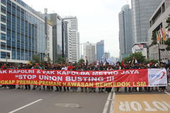 Workers Held Rally for Better Welfare Royalty Free Stock Image