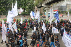 Workers Held Rally for Better Welfare Stock Photo