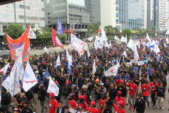 Workers Held Rally for Better Welfare Royalty Free Stock Images
