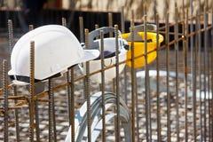 Workers' helmets Stock Photo