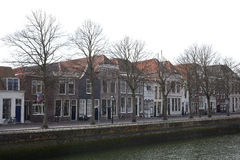 Workers' houses at the old port in Zierikzee, Zeeland, Netherlands Royalty Free Stock Image