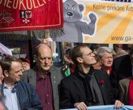 Workers&#x27 international ; Jour 1er mai 2016, Berlin, Allemagne Image libre de droits