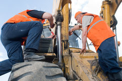 Workers on the job Royalty Free Stock Photo
