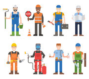 Workers man vector set. Royalty Free Stock Photos