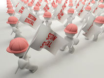 Workers marching Royalty Free Stock Photo