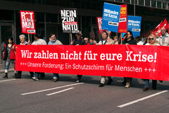 Workers marching in Frankfurt Royalty Free Stock Photography