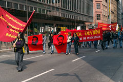 Workers marching in Frankfurt Stock Photography