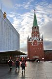 Workers in Moscow Kremlin. Color photo. Stock Photos