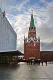 Workers in Moscow Kremlin. Color photo. Stock Image