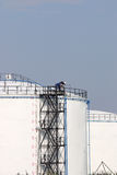 Workers on oil tank Royalty Free Stock Photography