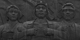 Workers party monument Pyongyang, capital of North Korea. royalty free stock photos