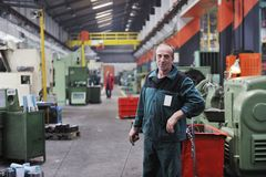 Workers people in factory Royalty Free Stock Photo