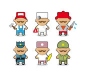 Workers people icons set for web sites Royalty Free Stock Photo