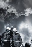 Workers and pollution Royalty Free Stock Images