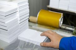 Workers in printing house Stock Photo
