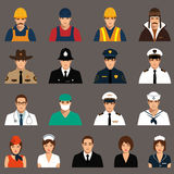 Workers, profession people,. Vector icon workers, profession people, cartoon vector illustration Stock Photography