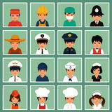 Workers, profession people,. Vector icon workers, profession people, cartoon vector illustration Stock Photo