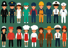 Workers, profession people,. Vector icon workers, profession people, cartoon vector illustration Stock Image